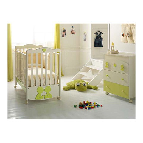 Offerte in corso - Set lettino Primo Amore + cass.fasc. Primo Amore panna/verde by Baby Expert