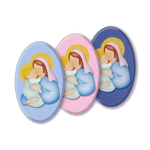 Annunci nascita - Ovali Mater Amabilis celeste [07541] by Azur
