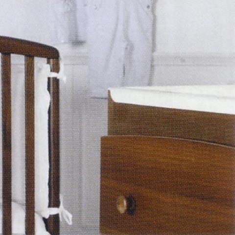 Cassettiere fasciatoio - Cassettiera fasciatoio Baby Noce antico by Baby Expert