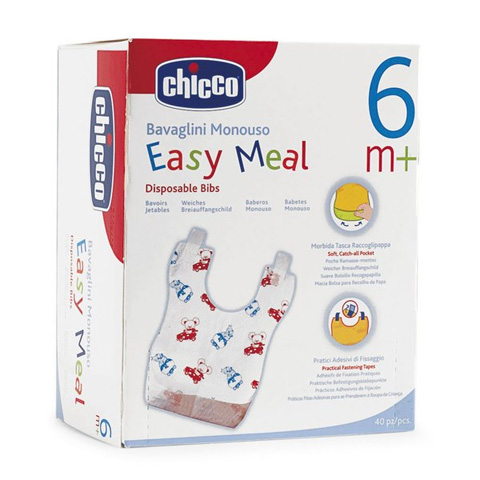 Bavaglini - 40 bavaglini monouso Easy Meal 67440.01 by Chicco