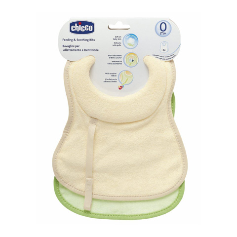 Bavaglini - 2 bavaglini allattamento e dentizione 3237 by Chicco