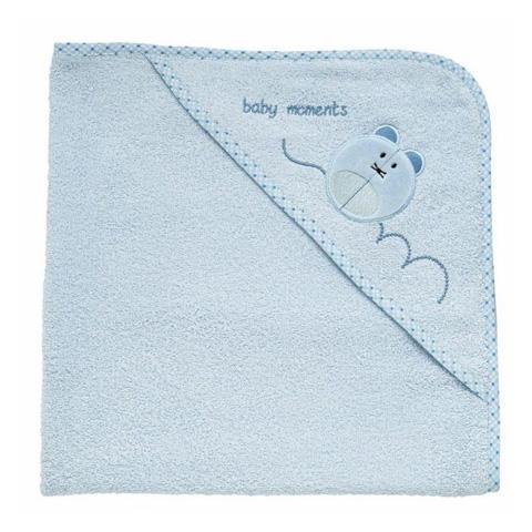 Abbigliamento e idee regalo - Accappatoio quadrato in spugna di cotone 0+ mesi Azzurro - Topo [4820] by Chicco