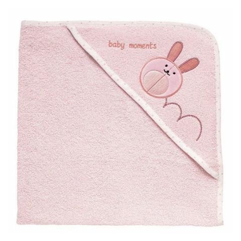 Abbigliamento e idee regalo - Accappatoio quadrato in spugna di cotone 0+ mesi Rosa - Coniglio [4821] by Chicco