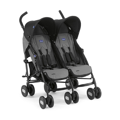 Linea gemellare - Passeggino gemellare Echo Twin 22 Coal by Chicco