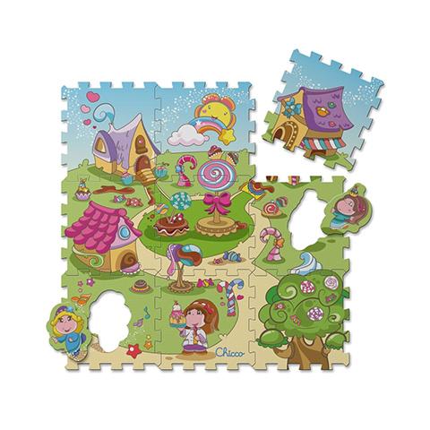 Chicco Tappeto componibile 9 pezzi Puzzle Caramelle