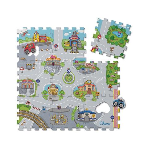 Chicco Tappeto componibile 9 pezzi Puzzle Città