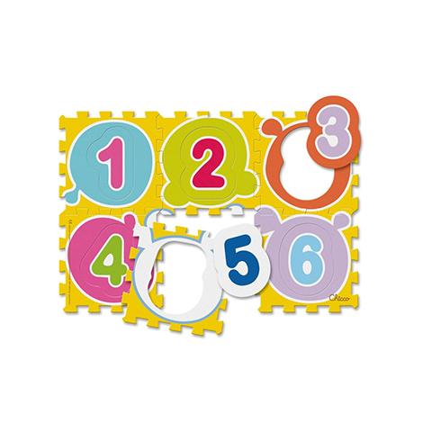 Giocattoli 36+ mesi - Tappeto componibile 6 pezzi Puzzle Numeri 71610 by Chicco