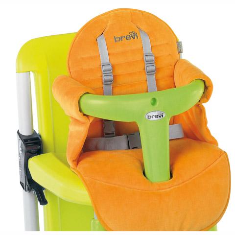Accessori per la pappa - Seggiolone Riduttore in ciniglia per Slex 234 arancio by Brevi
