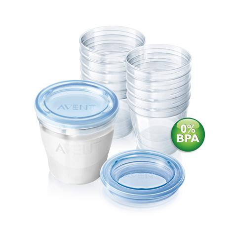 Allattamento e svezzamento - Contenitori per latte materno VIA SCF618/10 by Avent