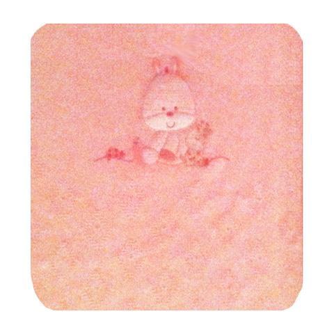 Coperte, lenzuolini e paracolpi - Copertina ric. double-face culla/carrozzina - Winter rosa ricamo zebra by Somma