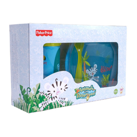 Stoviglie decorate - Set svezzamento - Fisher Price 5989 boy by Unifamily