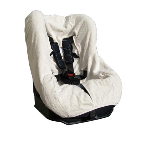 Accessori per il viaggio del bambino - Copriseggiolino auto Gruppo 1 in spugna universale BC010 bianco by Babys Clan