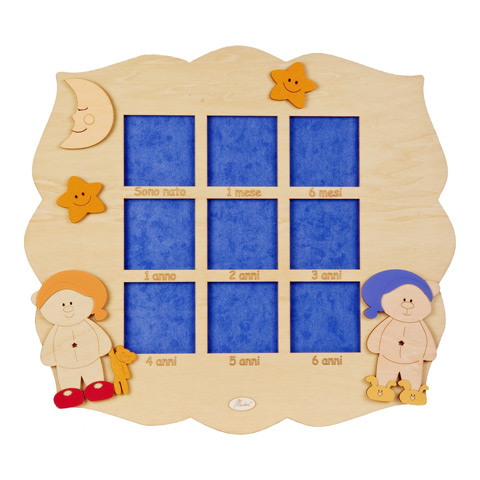Abbigliamento e idee regalo - Cornice 9 posti eta - linea Good Night 8323 by Mendozzi