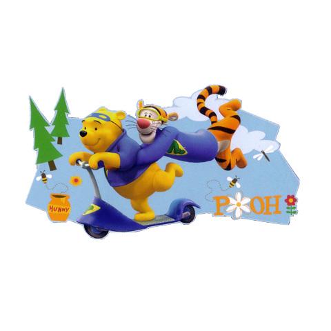 Complementi e decori - Maxisagome adesive Decofun DE 23539 - Tiger and Pooh Stampata by Decofun