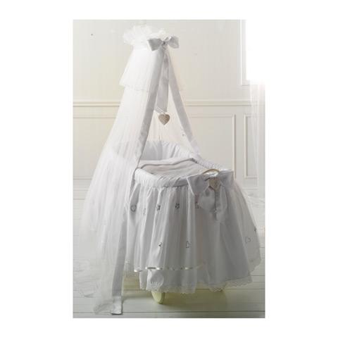 Culle complete - Culla Diamante - collezione Swarovski Bianco by Baby Expert