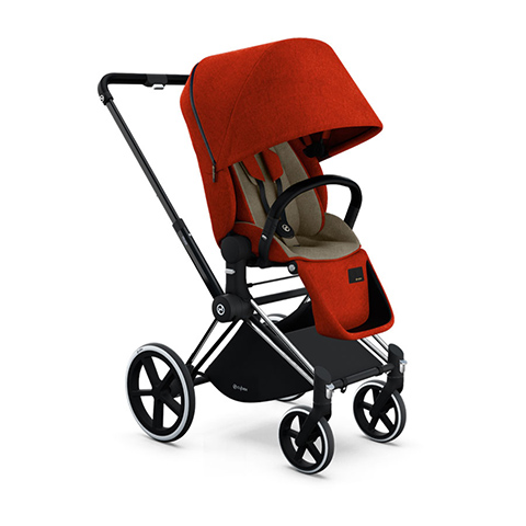 Passeggini - Passeggino Priam con seduta Lux e telaio Trekking Autumn Gold Denim - burnt red by Cybex