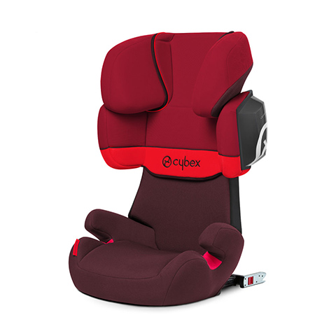 Seggiolini auto Gr.2/3 [Kg. 15-36] - SOLUTION X2-FIX Rumba Red - dark red by Cybex