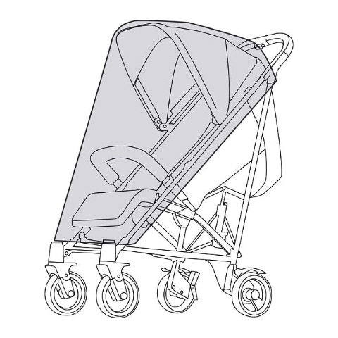 Accessori per il passeggino - Parapioggia per passeggini Cybex 511405001 by Cybex