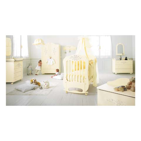 Camerette complete - Cameretta Collezione Diamante - linea Swarovski Panna by Baby Expert