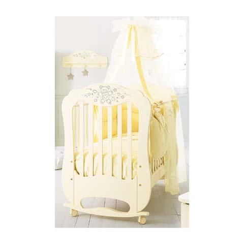 Lettini - Lettino Diamante - linea Swarovski Panna by Baby Expert