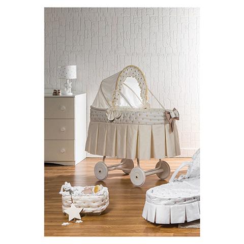 Culle complete - Matisse - culla piumina c/cappotta [D31.20+SBI+D47.20] Panna - bianca by Picci - Dili Best