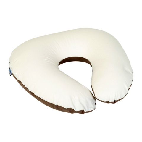 Accessori vari - Cuscino allattamento Softy piccolo COTONE BEIGE/AVORIO s10 by DooMoo