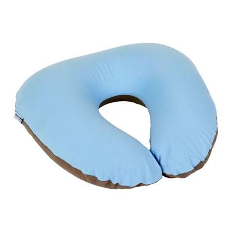 Accessori vari - Cuscino allattamento Softy piccolo COTONE BLUE/TAUPE s13 by DooMoo