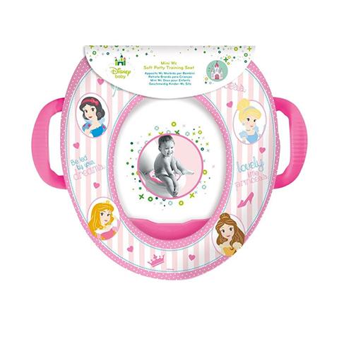Riduttori e vasini - Riduttore WC morbido con maniglie Principesse - STO30771 by Ekko