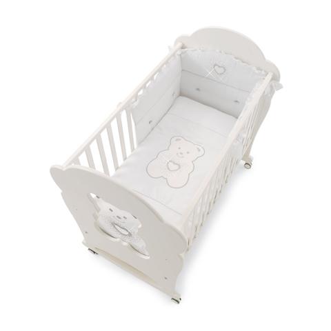 Piumoni - Completo piumotto Tiffany sfilabile ricamato Bianco by Erbesi
