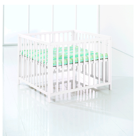 Box - Recinto in legno Felix + materasso Bianco [6265-01] + [6314-6031] by Baby Dan