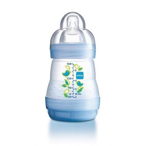 Biberon e succhiotti - First bottle - biberon autosterilizzante 160 ml - tett.mis.1 - maschio [21160-1656-21163] by Mam