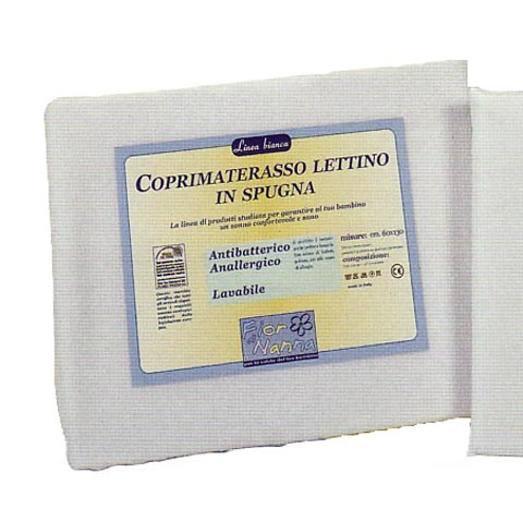 Materassi e linea bianca - Fodera coprimaterasso in spugna per lettino 130 x 60 by Fior di Nanna