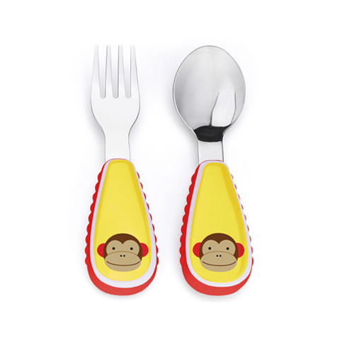 Stoviglie decorate - Fork and Spoon scimmia [252352] by Skip Hop