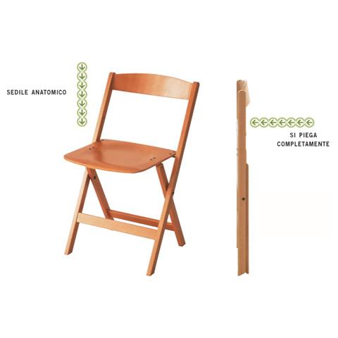 Tavoli e Sedie Foppapedretti - 2 sedie Luna Naturale by Foppapedretti