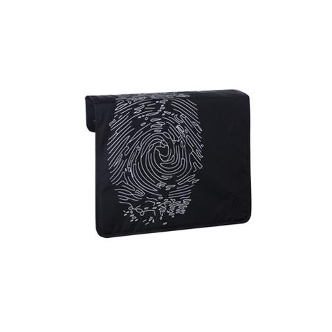 Borse - Front cover di ricambio per borsa Messenger fingerprint black [LFT10122] by Laessig