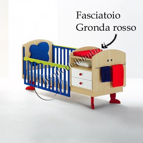 Altri moduli per arredo - Cuscino fasciatoio in espanso Gronda rosso by Tati