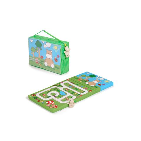 Accessori per il viaggio del bambino - Sleeper - materasso per lettino da viaggio 89044 - Hippo Green by Hauck