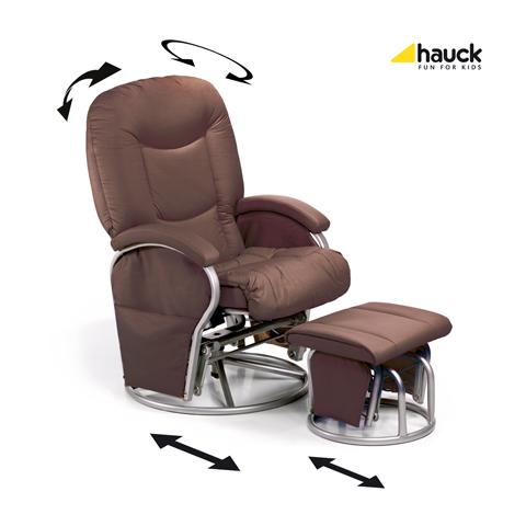 Accessori per la mamma - Poltrona Metal Glider Recline Brown [68707] by Hauck