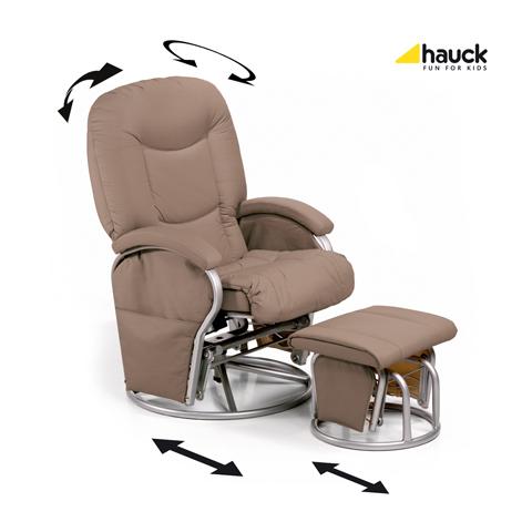 Accessori per la mamma - Poltrona Metal Glider Recline Creme [68701] by Hauck
