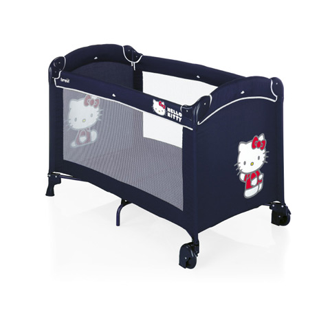 kinderreisebett kinderbett reisebett brevi dolce nanna plus hello kitty 023 navy ebay. Black Bedroom Furniture Sets. Home Design Ideas