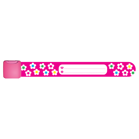 Pericoli domestici - Infoband - bracciale identificativo Fiori - rosa [INF0006] by Ekko