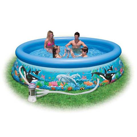 Casette, altalene, scivoli, piscine - Piscina Easy - Oceano 549061 by Intex