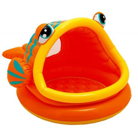 Casette, altalene, scivoli, piscine - Piscina Baby Pesce con parasole 571093 by Intex