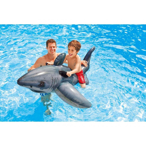 Casette, altalene, scivoli, piscine - Cavalcabile Squalo Bianco 575251 by Intex
