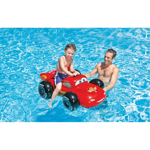 Casette, altalene, scivoli, piscine - Cavalcabile Cars 585762 by Intex