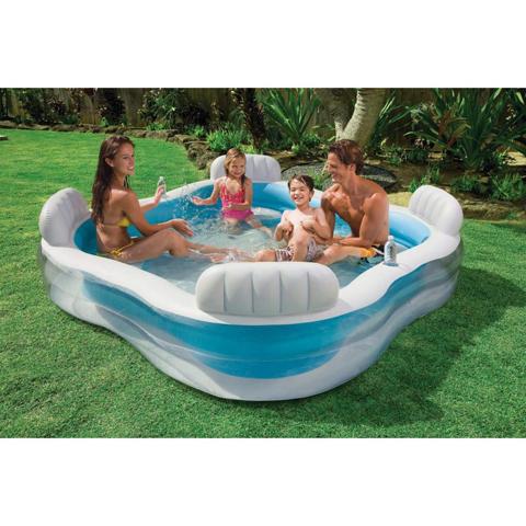 Casette, altalene, scivoli, piscine - Piscina con 4 sedili 564750 by Intex