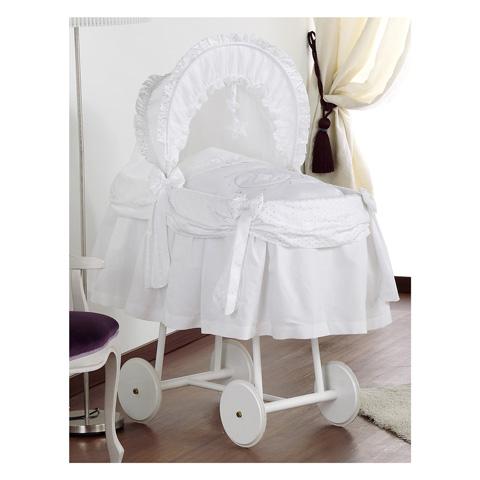 Culle complete - Atelier Ninna� - Culla Aurora bianca con ruote grandi Polvere di stelle-bianco by Italbaby