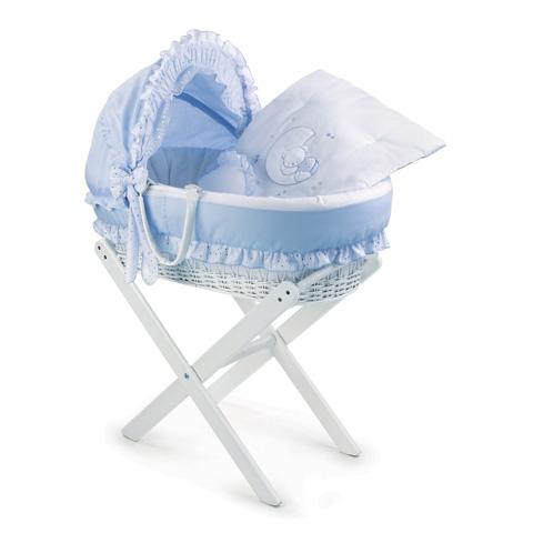 Culle complete - Atelier Ninnaò - Nido Chic bianco con carrello  Polvere di stelle-azzurro by Italbaby