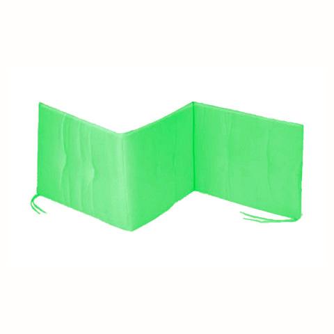 Coperte, lenzuolini e paracolpi - Paracolpi tinta unita 3 lati verde by Italbaby