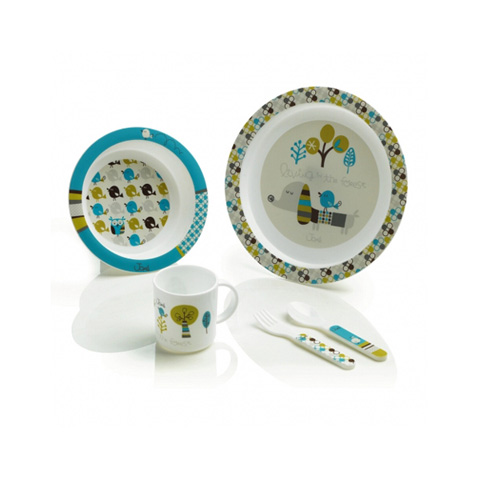 Stoviglie decorate - Set melamina per microonde [crockery set] 70201 chromatic blue by Jane